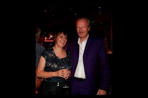 Producer Rebecca O'Brien with PR veteran Charles McDonald